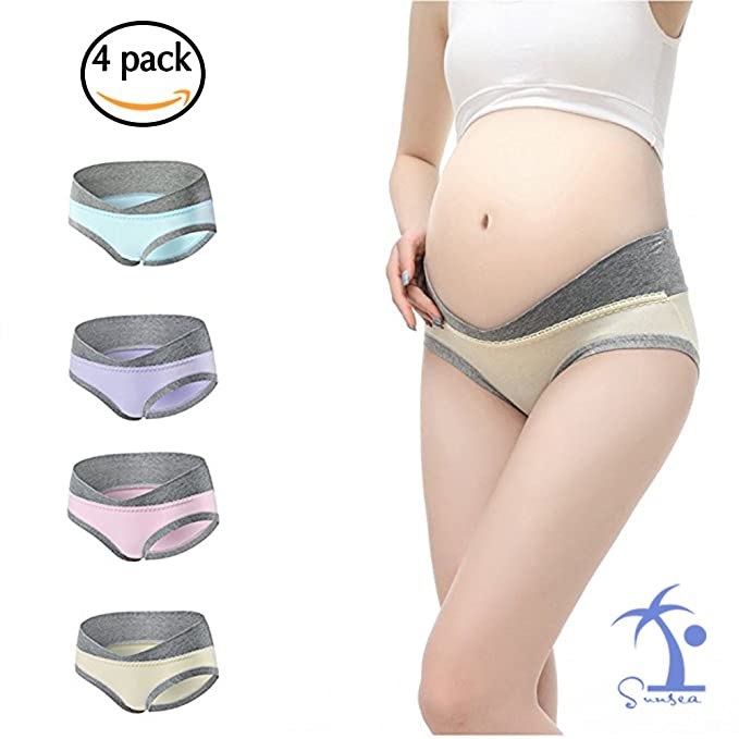 18155ccde603d Sunsea Maternity Underwear-Maternity Panties-Hipters for Pregnancy (Label L  = US S