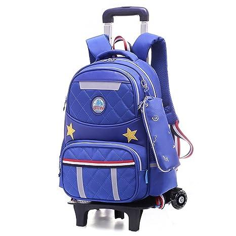Nuevos Hot MinegRong Cartoon extraíble niños multifunción mochilas escolares con 2/6 ruedas mochilas impermeables