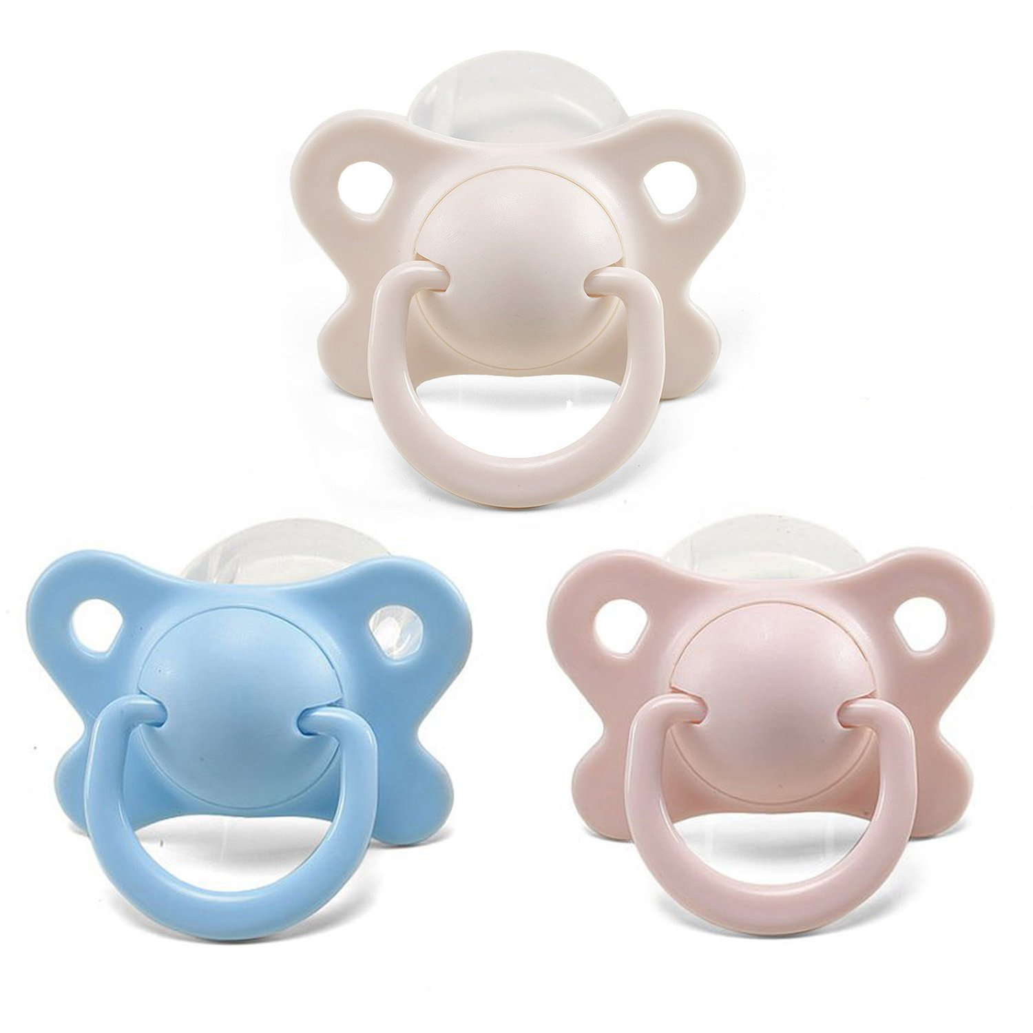 Amazon.com : Littleforbig Adult Sized Pacifier/Dummy for Adult Baby ABDL -  Butterfly Kiss Binky 3 Pacifiers Pack : Baby