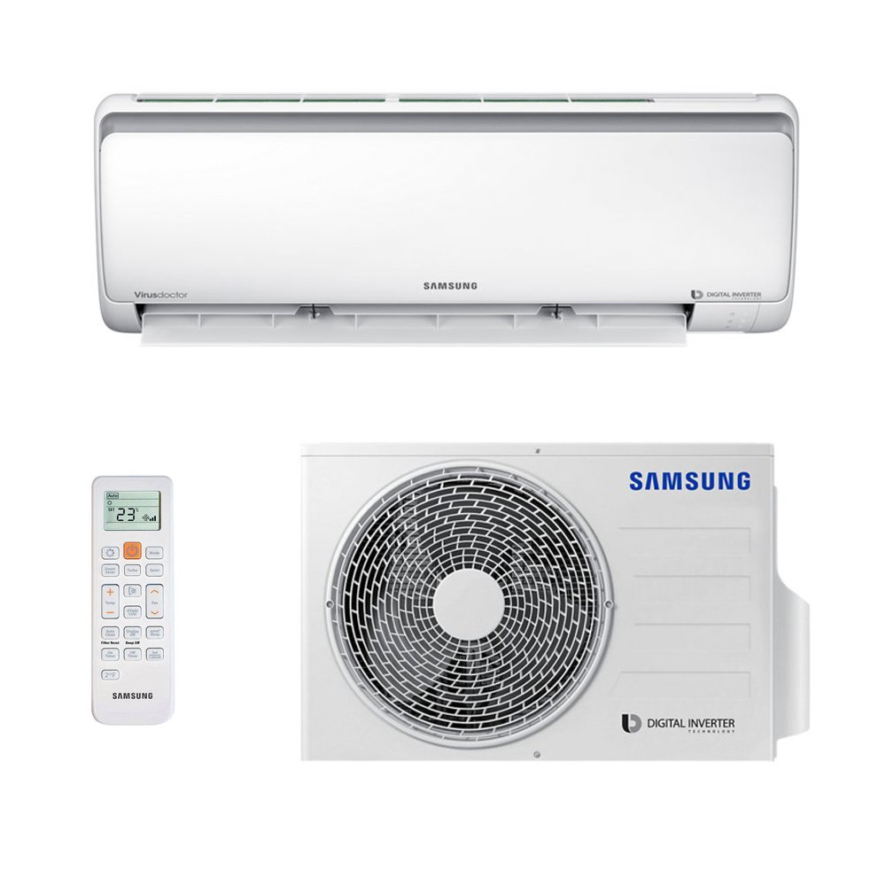 c3cd40661 Ar Condicionado Split Hw Digital Inverter Samsung 9000 Btus Quente Frio  220V Monofásico AR09MSSPBGMNAZ  Amazon.com.br  Casa