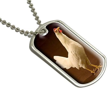Pollo Militar etiqueta de perro Llavero de equipaje: Amazon.es ...