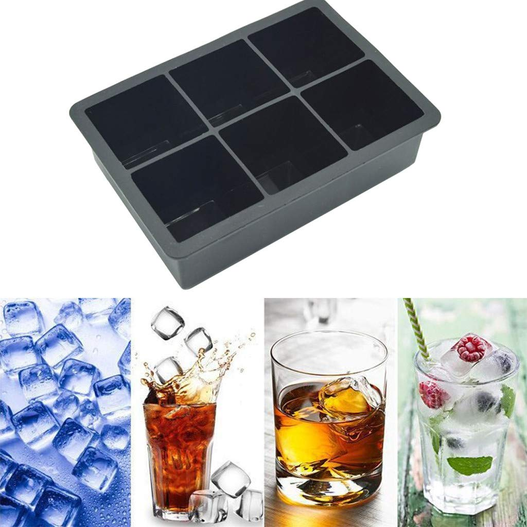 CreazyBee 4PC Party Special Ice Cube Creative Household Food Grade Silicone Ice Tray (Black) by CreazyBee