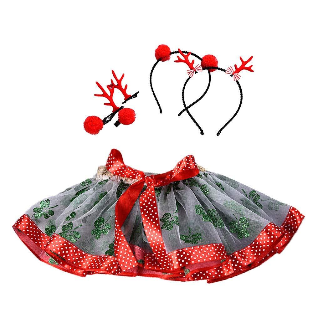 d636577e2aea8 Amazon.com: 0-5T Kids Baby Girls Christmas Party Princess Mesh Tutu ...