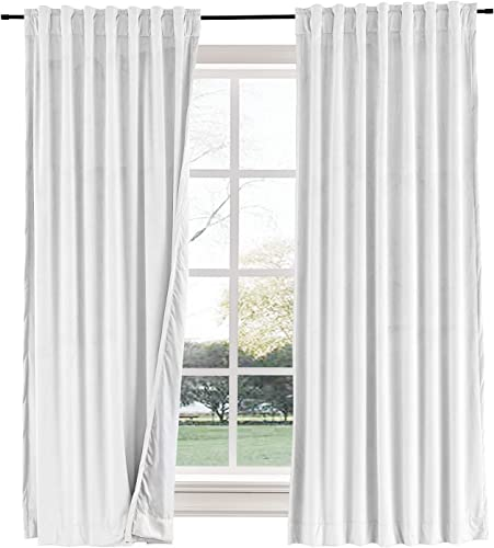 Curtains Your Way Velvet Blackout Back Tab Curtain 120 x 96 Thermal Insulated Drape Blocks up to 99 of Light and Helps Regulate Room Temperature for Year-Round Comfort 1 Panel