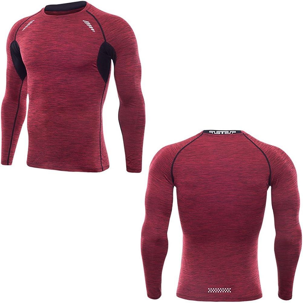 Zhuhaitf 3 Color Long Sleeve Compression T-shirt Men Fitness Training Sport Tops