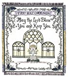 Simply Home Girl's First Holy Communion By Lynn N. Parker Afghan Throw 48'' x 60''