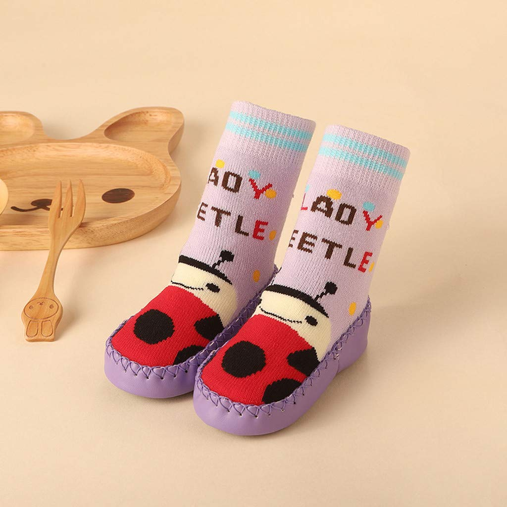 Respctful✿Baby Shoes Infant Baby Lovely Cartoon Anti-Slip Floor Socks Boots Toddler Slippers Infant Winter Warm Socks Shoes