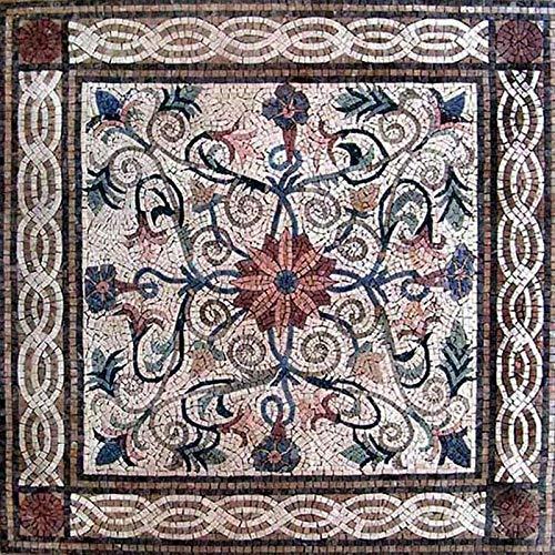 Flower Mosaic Art Tile - Maha   Mosaic Art   Mosaic Designs   Mosaic Artwork   Mosaic Wall Art by Mozaico   Handmade Mosaics   47