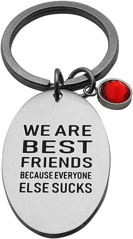 Key Accessoryy Best Friend Keychain Funny Friend Gift Friend Present Snarky Handstamped Keychain Best Friend Birthday Everyone Sucks