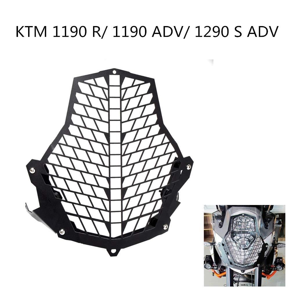 ETbotu Faro Moto Protezione della Lente Copertura Grill Accessori per KTM 1190R 1190/1290/ADV