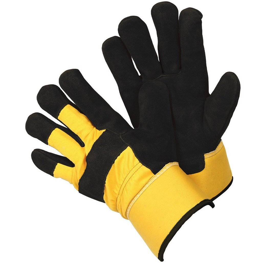 Briers Thermal Rigger Gloves, Yellow/Black, Large Briers Ltd B0072