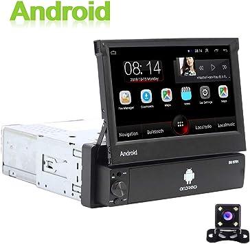 Android 1 DIN Radio de Coche GPS CAMECHO 7 Pulgadas hacia afuera ...