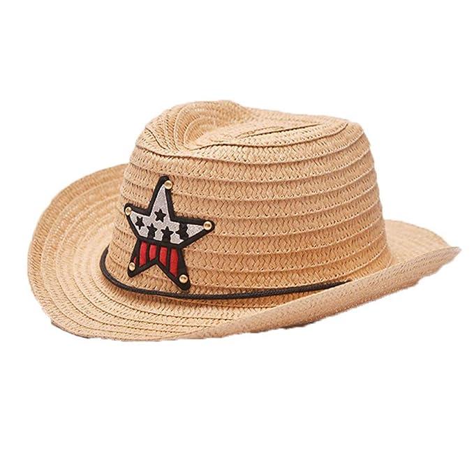 Amazon.com: Sombrero de paja de playa de vaca para verano al ...