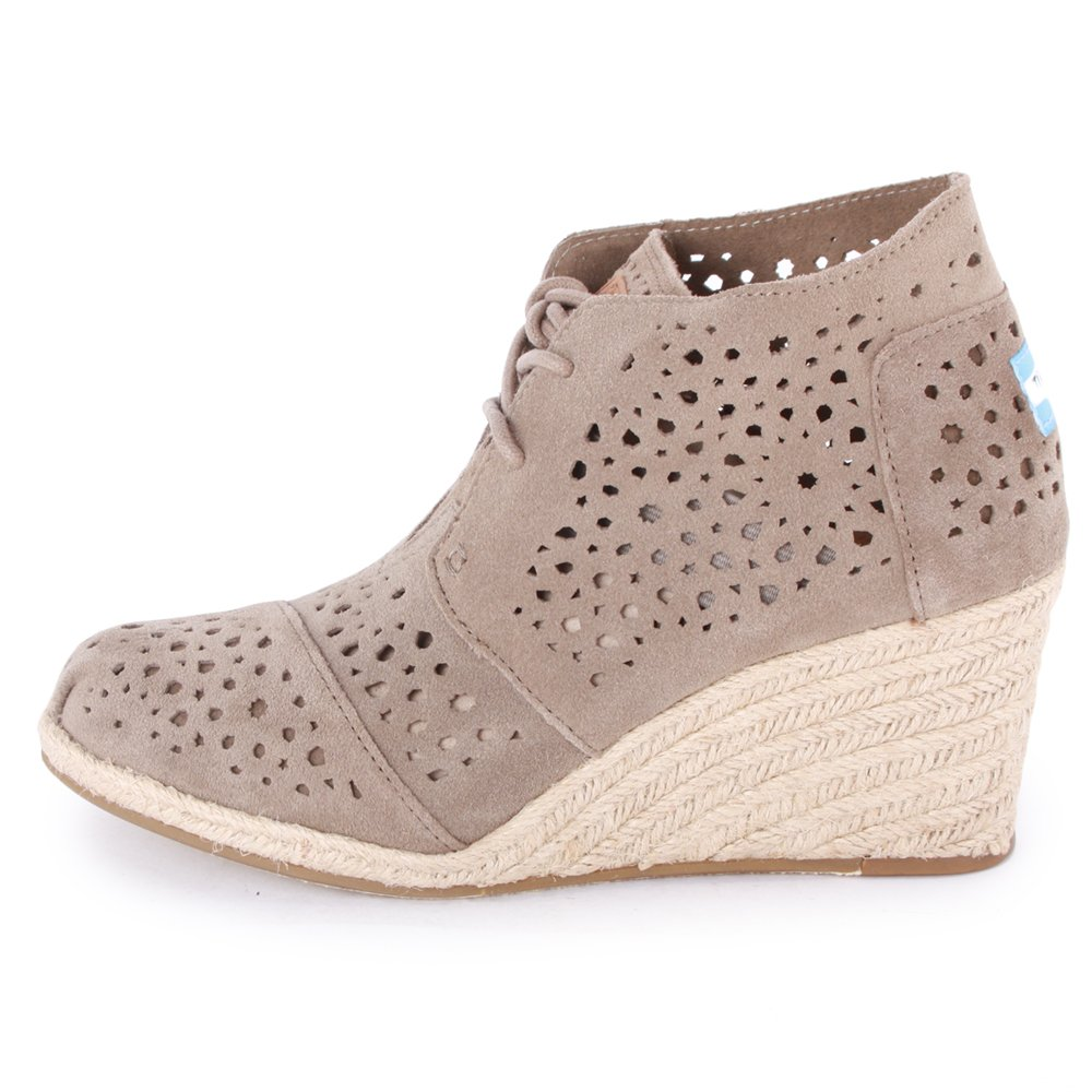 f6f87b690e0 Toms Moroccan Desert Wedges Womens Suede Boots Taupe 6 UK  Amazon.co.uk   Shoes   Bags