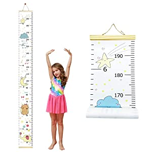 Baby Growth Chart Ruler for Kids,Removable Height Chart for Kids,Canvas Height Measurement Wall Decoration for Baby Nursery Decoration Baby Shower Gift 7.9'' x 79''