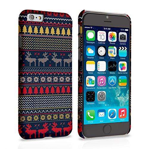 Caseflex iPhone 6 / 6S Hülle Blau / Gelb Rentier Weihnachtspullover Hart Schutzhülle