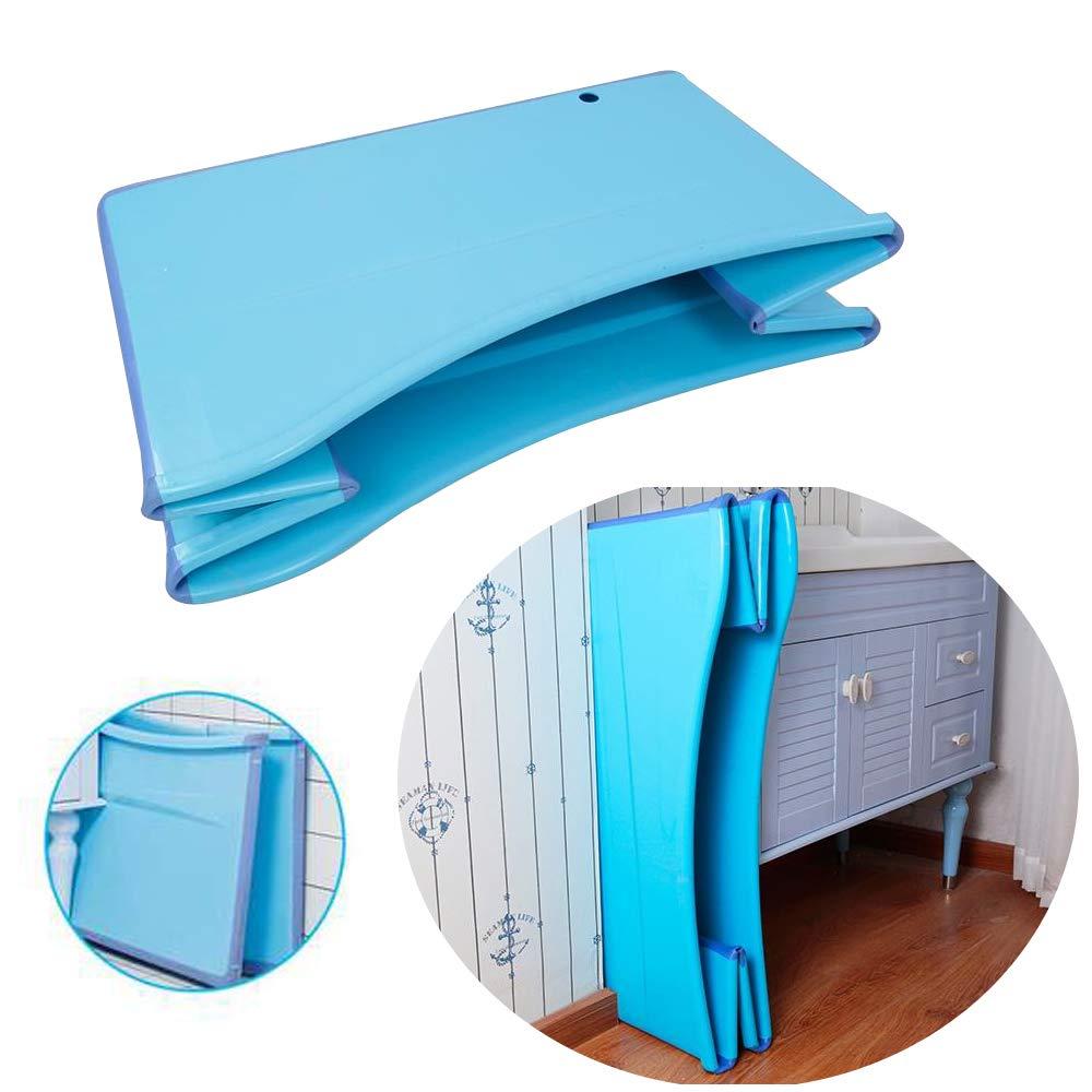 Weylan Tec Large Foldable Bath Tub Bathtub For Adult Children Baby Toddler Blue by Weylan Tec (Image #4)