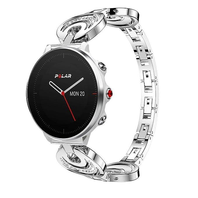 LvBU - Correa de Acero Inoxidable para Reloj Inteligente Polar ...