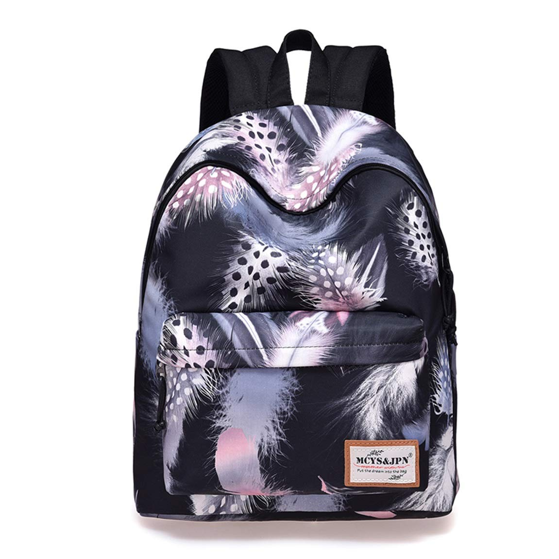 HZB Secondary School Schoolbag Leisure Travel Double Shoulder Backpack