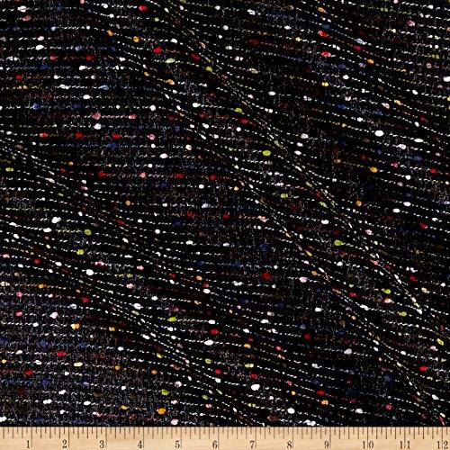 (TELIO Celia Poly Tweed Metallic Black Fabric by The Yard)