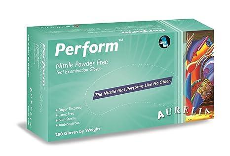 Guantes de nitrilo para examen sin polvo, tamaño mediano ...