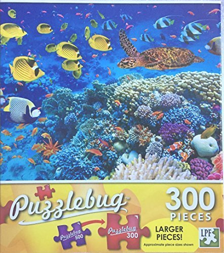 (Puzzlebug 300 Piece Puzzle ~ Tropical Fish and Turtle in the Red Sea ~ New Larger Pieces)