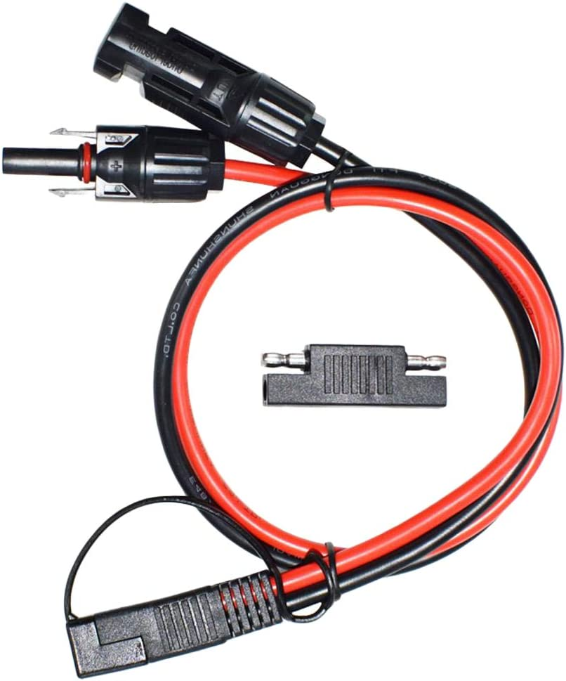 Almencla 10 AWG 36V 30A Conector MC4 a SAE de Silicona Longitud: 70cm // 27,56 Pulgadas Servicio Personalizado Disponible F/ácil de Usar