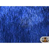 "Faux Fur Long Pile Sparkling ELECTRIC TINSEL Fabric 04 ROYAL BLUE / 66"" Wide / Sold by the yard"