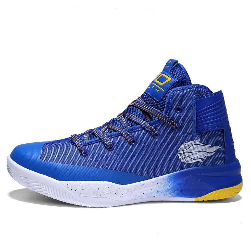 High-top Sneakers for Men 2019 Newest Casual Round Toe Fashion Lace-up Running Sports Shoes (US:6.5, Blue)