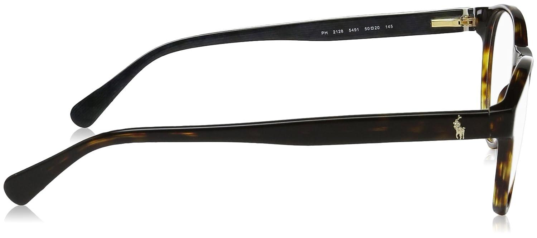 47d3124b19 Amazon.com  Polo PH2128 Eyeglass Frames 5491-50 - Dark Havana PH2128-5491-50   Clothing