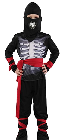 Amazon.com: La Vogue Boys Skeleton Ninja Uniform Kung Fu ...