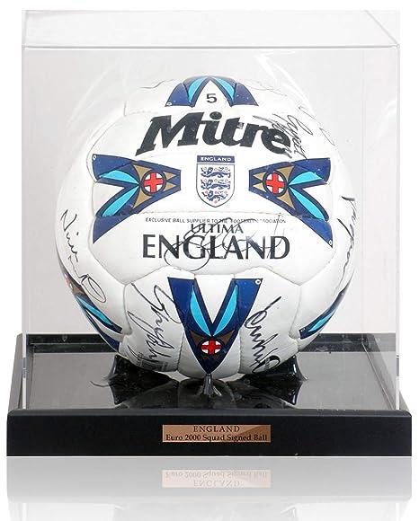 MBS Balón de fútbol de Inglaterra Euro 2000 Squad Firmado a Mano ...