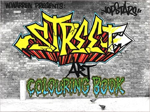 Street art colouring book amazon co uk jopstars books