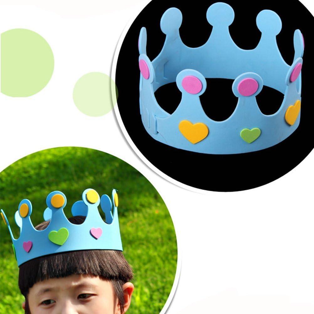 8 x 8 x 8 cm decoraci/ón de Fiestas Amosfun One Gorro de Corona para Primer cumplea/ños con dise/ño de la Selva del Carnaval y la Selva para Primer cumplea/ños