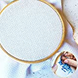 "Cross Stitch Fabric, JUSTDOLIFE 14 Count Aida Cloth Cross Stitch Cloth Embroidery Cloth 59 X 39"" for Home DIY Embroidery Decor"