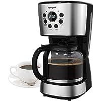 Homgeek Kaffeemaschine 12 Tassen, Kaffee Maker mit Automatische Abschaltung, Warmhalteplatte, Filterkaffeemaschinen mit Timer, Glaskanne, Dauerfilter, Tropfstopp