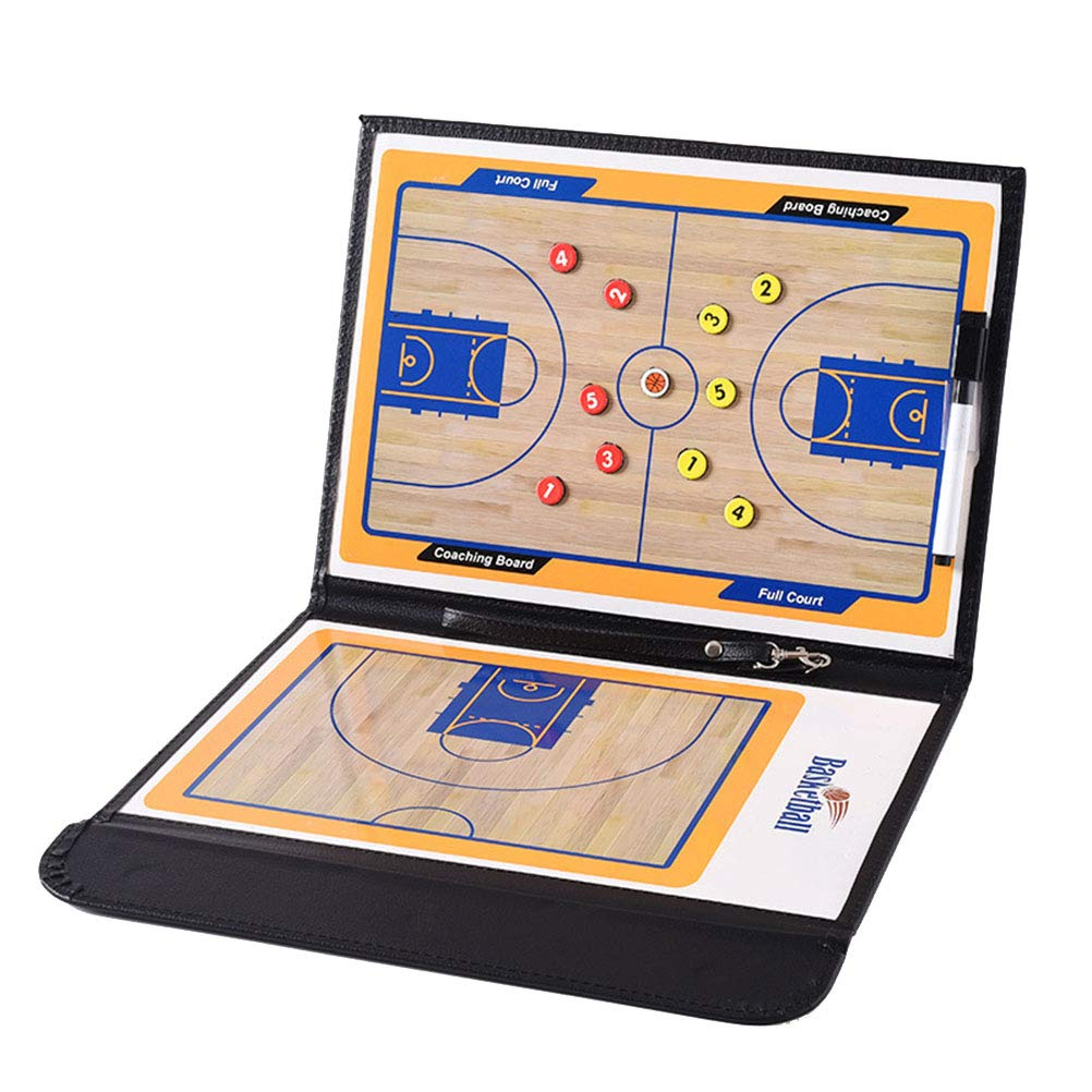 VORCOOL Magnetic Professional Folding Basketball Coaching Board Erase Resuable Clipboard with Dry Erase Marker Pen and Zipper Bag