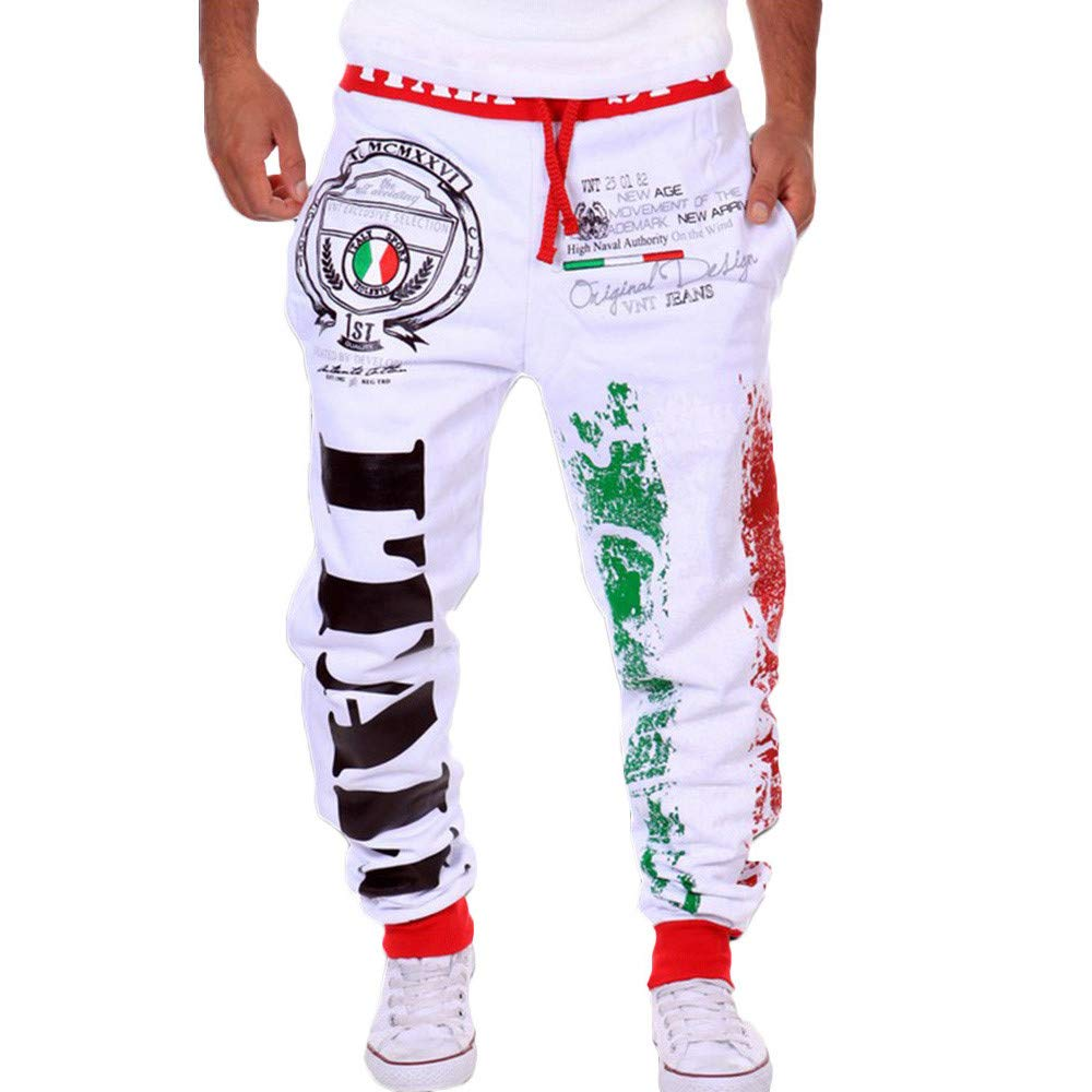 FANOUD Men's Sportswear Loose Pants Men's Hip Hop Loose Sweatpants Sports Jogger Trousers