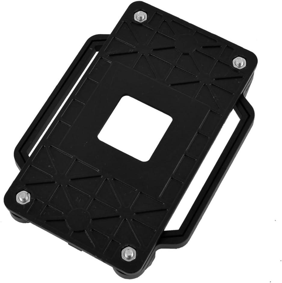 uxcell CPU Cooler Fan Retainer Bracket 2pcs Black Yellow for ADM AM2 AM3 FM1 FM2 FM2