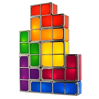 Tetris Desk Lamp LingsFire Tetris Light DIY Constructible Night
