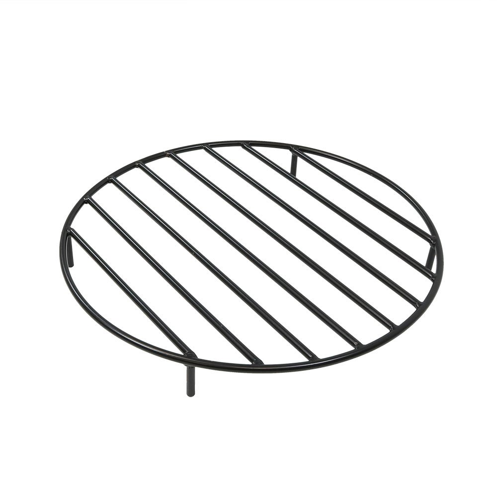 Sunnydaze Fire Pit Grate - Heavy-Duty Steel - Round Firewood Grate for Outdoor Firepits - 24-Inch Black by Sunnydaze Decor