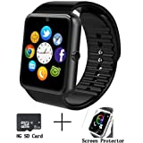 GT08 Bluetooth Smart Watch with SD Card and SIM Card Slot,Call,Massage,For IOS iphone and Android Samsung ZTE Sony LG Smartphones, Sweatproof