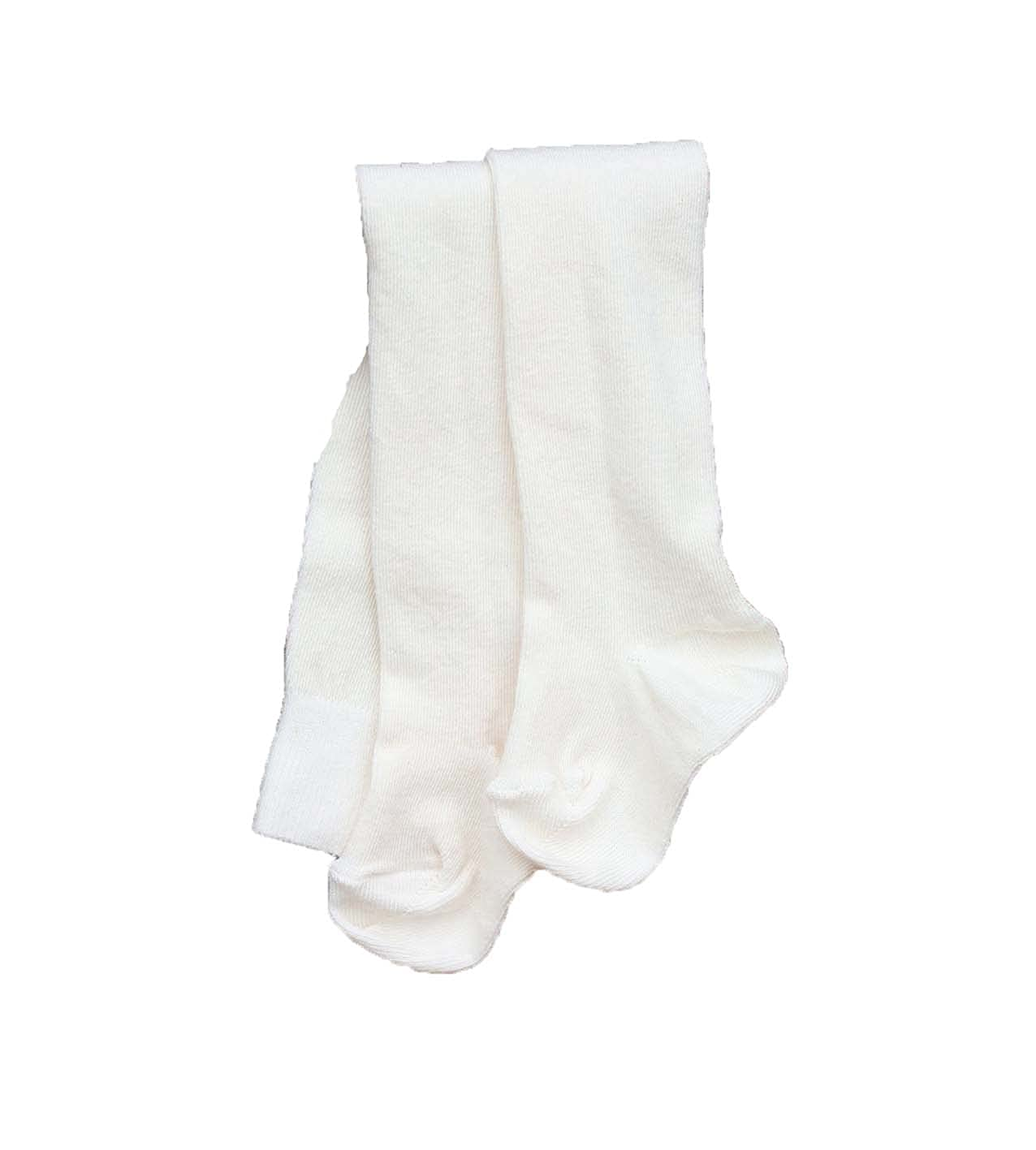 Natures Purest Plain Cream Natural Organic Cotton Tights (3-6 Months)