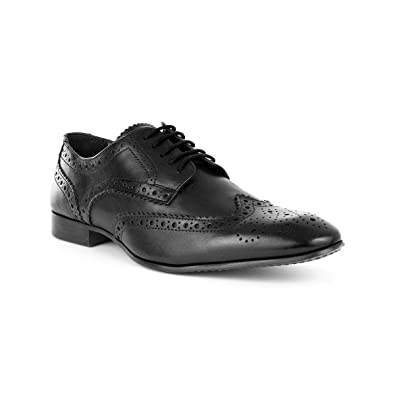 2f8565567ea9a Silver Street Mens Black Brogue Lace Up Shoe: Amazon.co.uk: Shoes & Bags