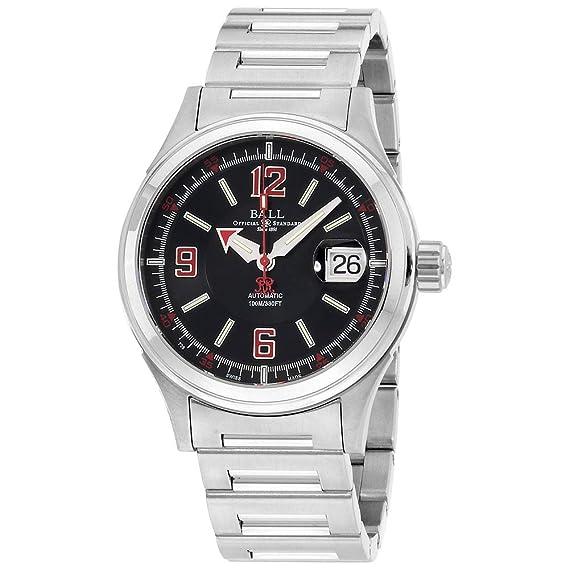 Bola nm2088 C-s2j-bkrd Bombero Racer - Reloj para hombre esfera de color negro de acero inoxidable para movimiento automático: Amazon.es: Relojes