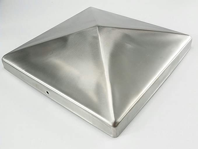 4x Pfostenkappe V2A  edelstahl 91x91 mm Pyramide Abdeckkappe für Pfosten 9x9 cm