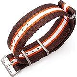 Bracelet NATO 22A22BZZ00N2P14(FR)–Sangle de nylon, couleur marron (22)