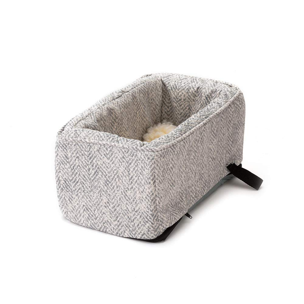 Snoozer Pet Products - Luxury Console Dog Car Seat with Microfiber - Show Dog Collection   Large - Palmer Dove by Snoozer