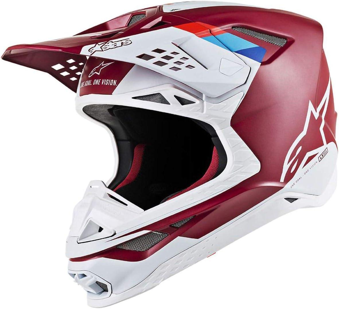 Alpinestars Supertech M8 Contact Helmet-Dark Red//White-L