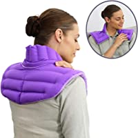 My Heating Pad for Neck and Shoulders Microwavable – Hot/Cold Neck Wrap for Pain and Stress Relief – Upper Body Wrap Plus Natural Relaxation Therapy – Purple